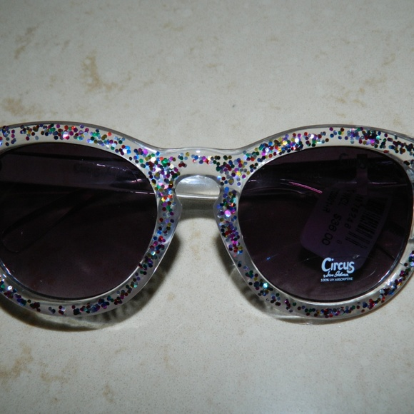 f6966567e3f5 Sam Edelman Accessories | Circus Clear Glitter Sunglasses | Poshmark